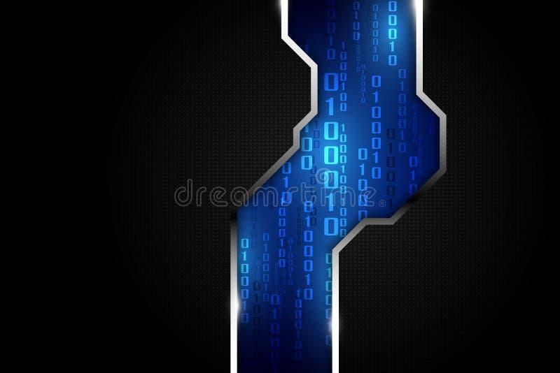 Abstrakcjonistyczny technologii ochrony sieci przesyłania danych systemu tło, wektorowa ilustracja ilustracja wektor
