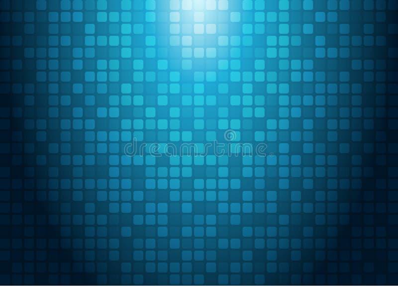 Abstrakcjonistyczny technologii pojęcie z oświetleniowego skutka błękitem obciosuje pa royalty ilustracja