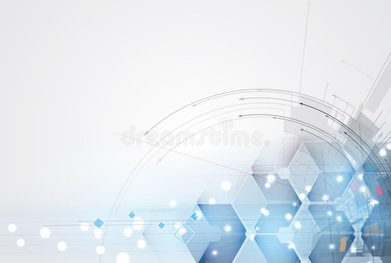 Abstrakcjonistyczny technologii tła biznes & rozwoju kierunek royalty ilustracja