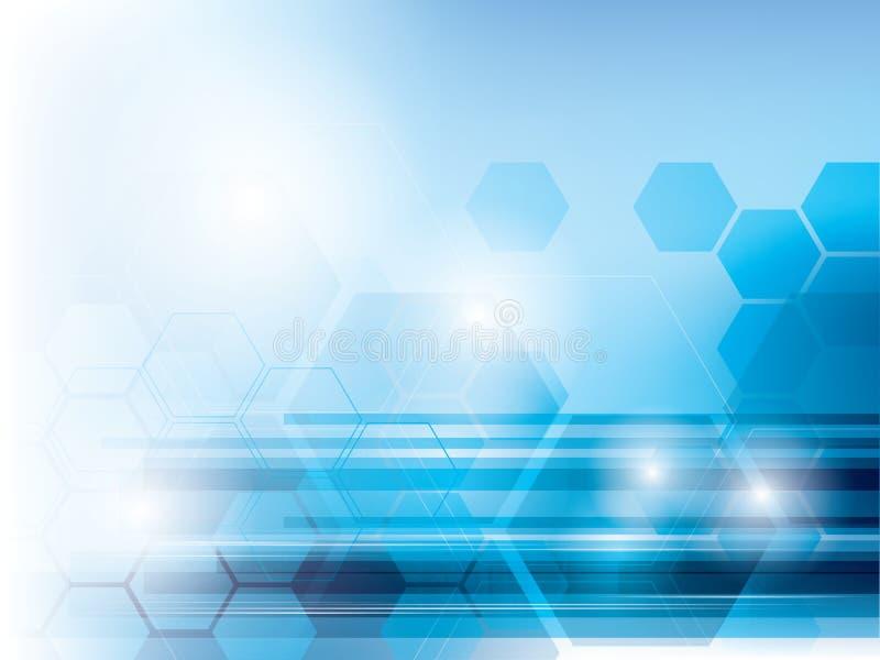 Abstrakcjonistyczny technologii tło błękita wektor ilustracja wektor