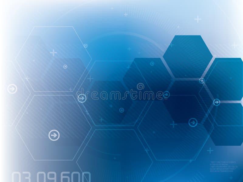 Abstrakcjonistyczny technologii tło błękita wektor ilustracji