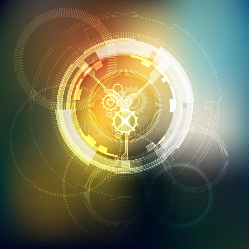 Abstrakcjonistyczny technologii tło, Lekkie fala royalty ilustracja