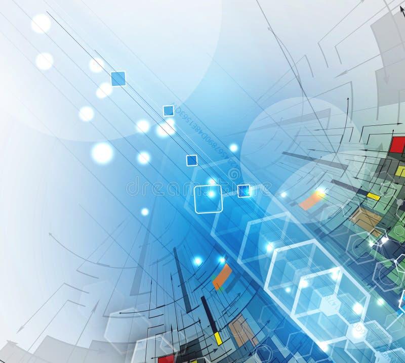 Download Abstrakcjonistyczny Technologii Tła Biznes & Rozwoju Kierunek Ilustracja Wektor - Ilustracja złożonej z inżynieria, łączy: 57657425