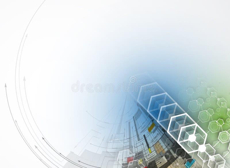 Download Abstrakcjonistyczny Technologii Tła Biznes & Rozwoju Kierunek Ilustracji - Ilustracja złożonej z firma, geometryczny: 57657597