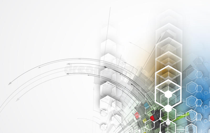Download Abstrakcjonistyczny Technologii Tła Biznes & Rozwoju Kierunek Ilustracji - Ilustracja złożonej z automatyzacja, wyznaczający: 57657924