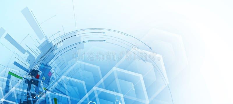Download Abstrakcjonistyczny Technologii Tła Biznes & Rozwoju Kierunek Ilustracja Wektor - Ilustracja złożonej z internety, pojęcie: 57657957