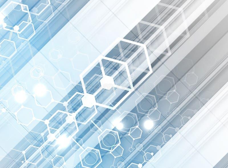 Download Abstrakcjonistyczny Technologii Tła Biznes & Rozwoju Kierunek Ilustracji - Ilustracja złożonej z inżynieria, interfejs: 57658049