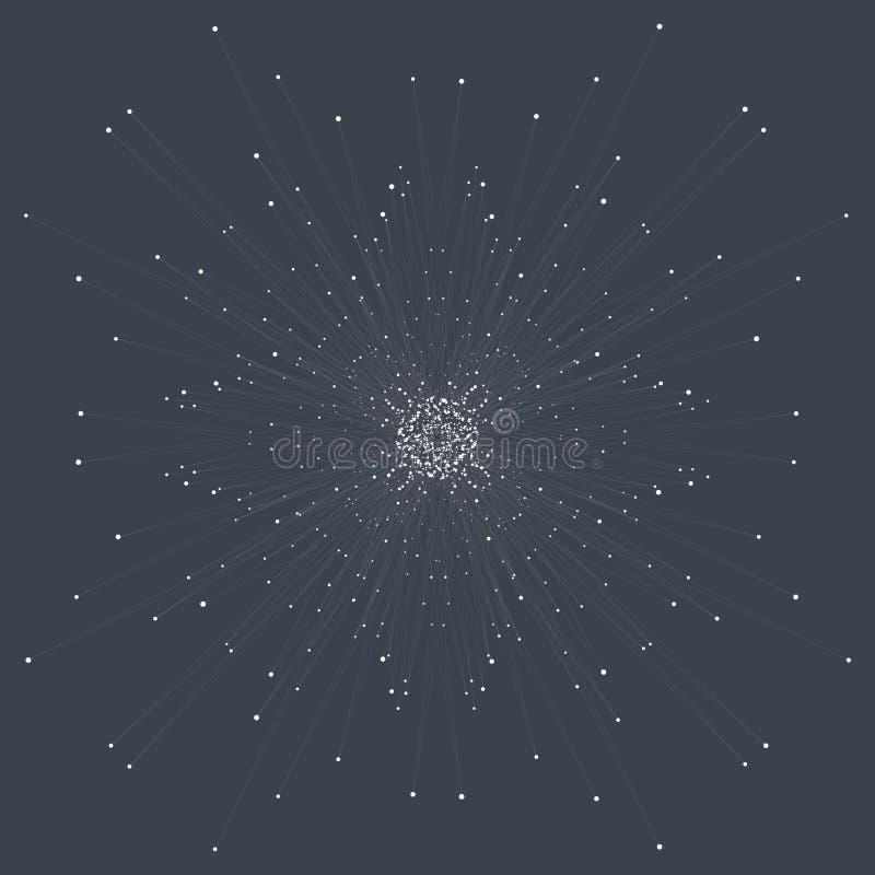 Abstrakcjonistyczny technologii unaocznienie ilustracja wektor