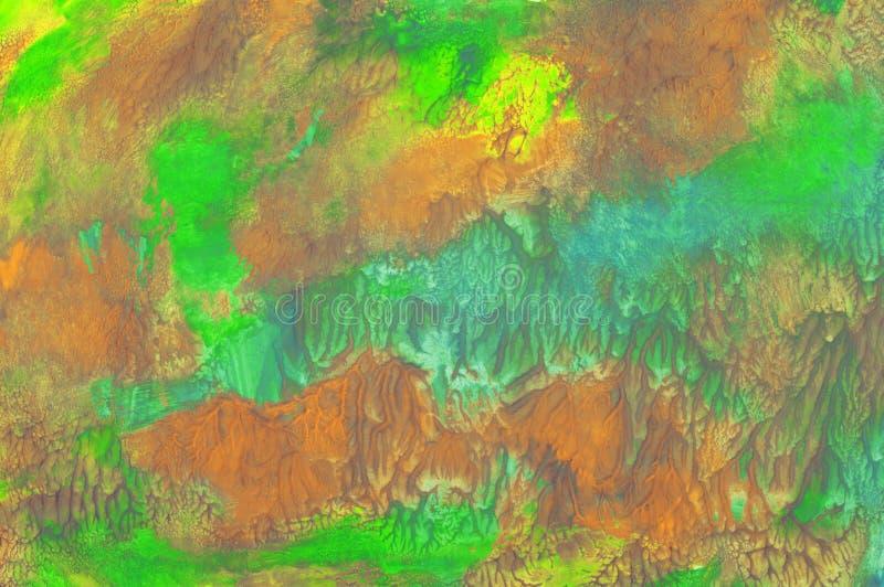 Abstrakcjonistyczny tekstury muśnięcia farby naturalnego tła sztuki drewniany projekt royalty ilustracja