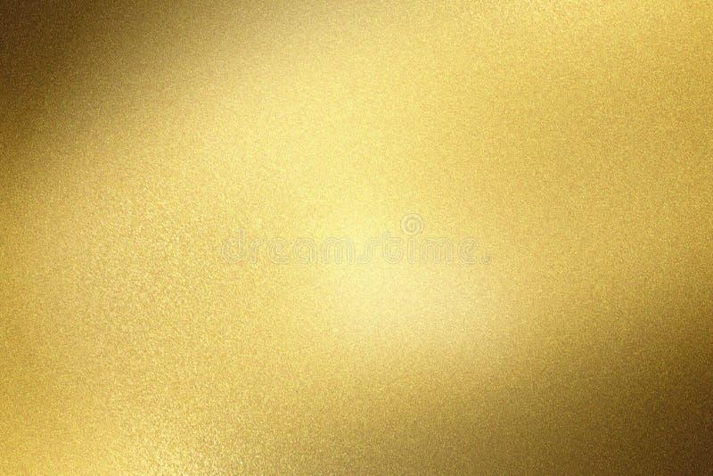 Abstrakcjonistyczny tekstury tło, błyskotanie szczotkująca złota metal ściana royalty ilustracja