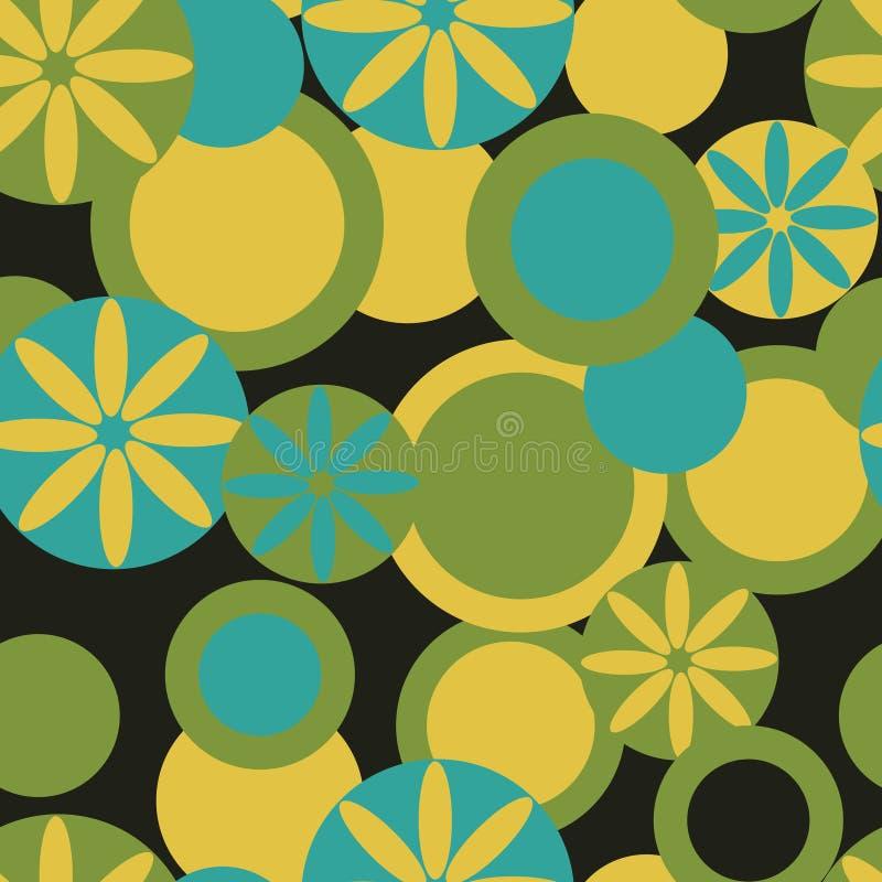 Abstrakcjonistyczny tekstylny bezszwowy wzór zieleni i błękita kolory ilustracji