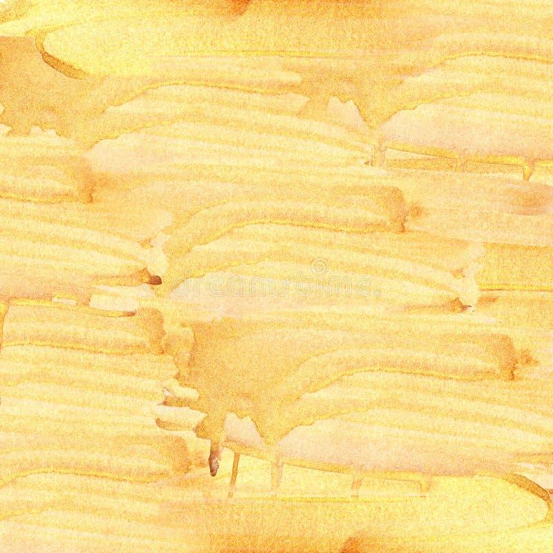 Abstrakcjonistyczny textureof leje się złoto zdjęcie royalty free
