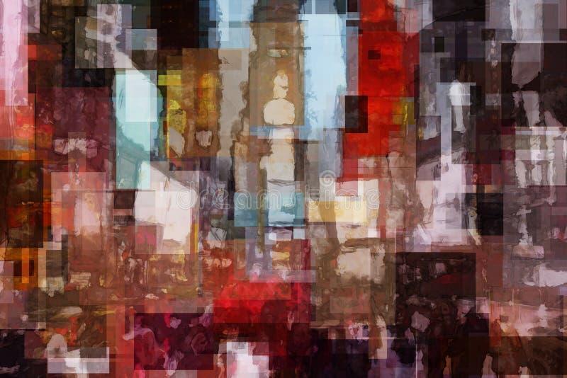 Abstrakcjonistyczny times square ilustracji