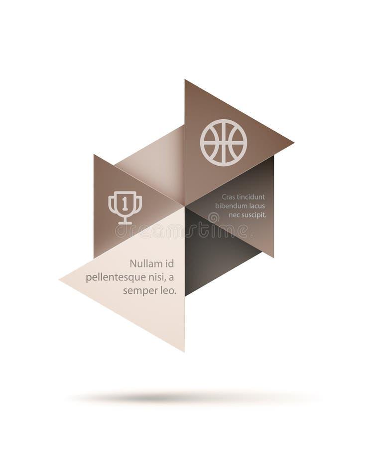 Abstrakcjonistyczny trójboka kształt royalty ilustracja