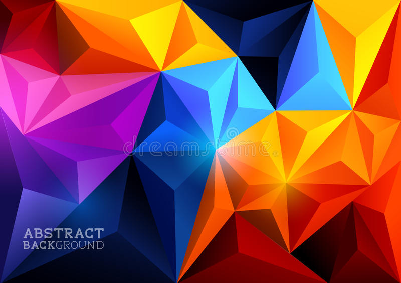 Abstrakcjonistyczny trójboka tło ilustracja wektor