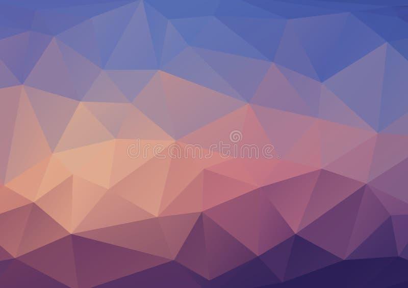 Abstrakcjonistyczny trójboka tło w błękitnych brzmieniach ilustracja wektor