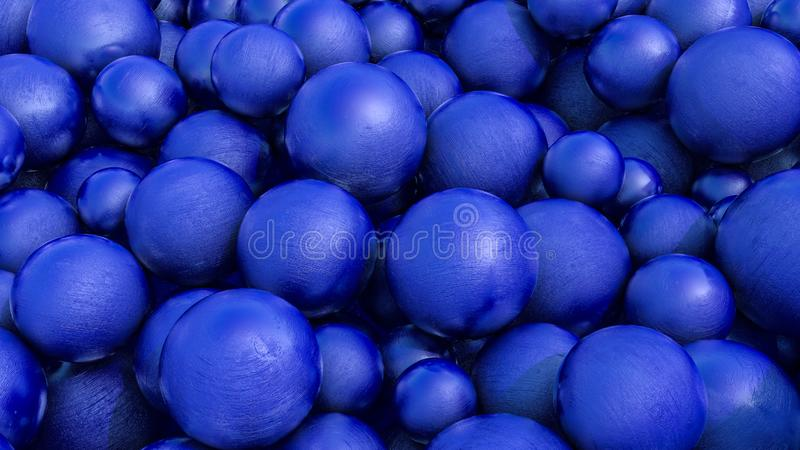 Abstrakcjonistyczny trójwymiarowy tło błękitne sfery z teksturą 3 d czyni? zdjęcie stock