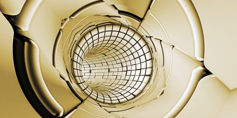 Abstrakcjonistyczny tunelowy technologii tło ilustracji
