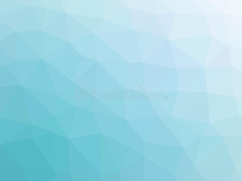Abstrakcjonistyczny turkusowego błękita gradientowy niski wielobok kształtował tło royalty ilustracja