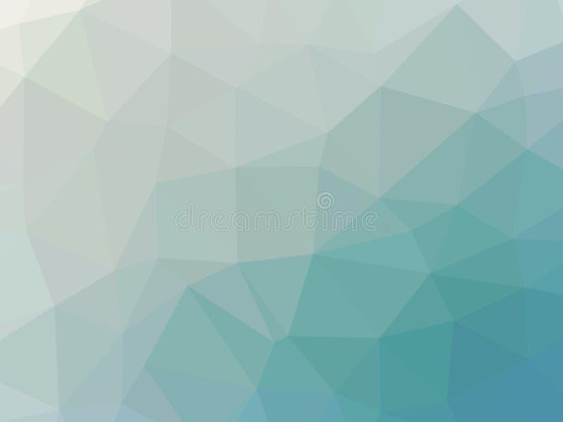 Abstrakcjonistyczny turkusowego błękita gradientowy niski wielobok kształtował tło ilustracji