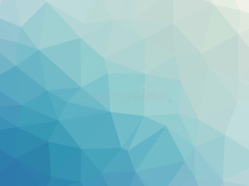 Abstrakcjonistyczny turkusowego błękita gradientowy poligonalny tło ilustracji