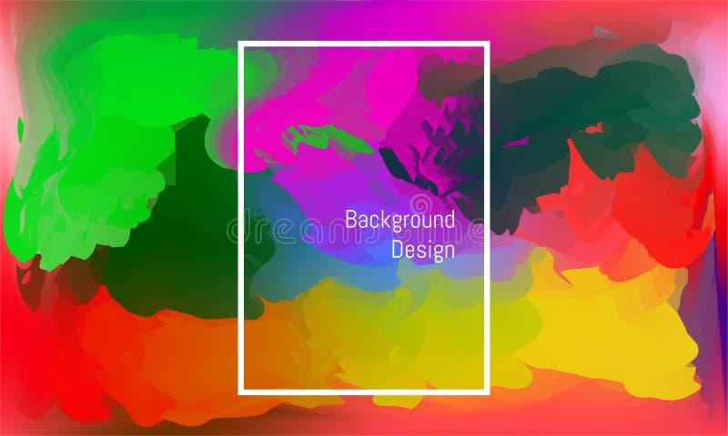 Abstrakcjonistyczny twirl kszta?t lubi wodnego colour kolorowy pi?kny t?o projekt Wektorowa ilustracja EPS10 royalty ilustracja