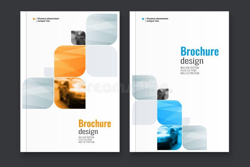 Abstrakcjonistyczny ulotka projekta tło broszurka szablon ilustracja wektor