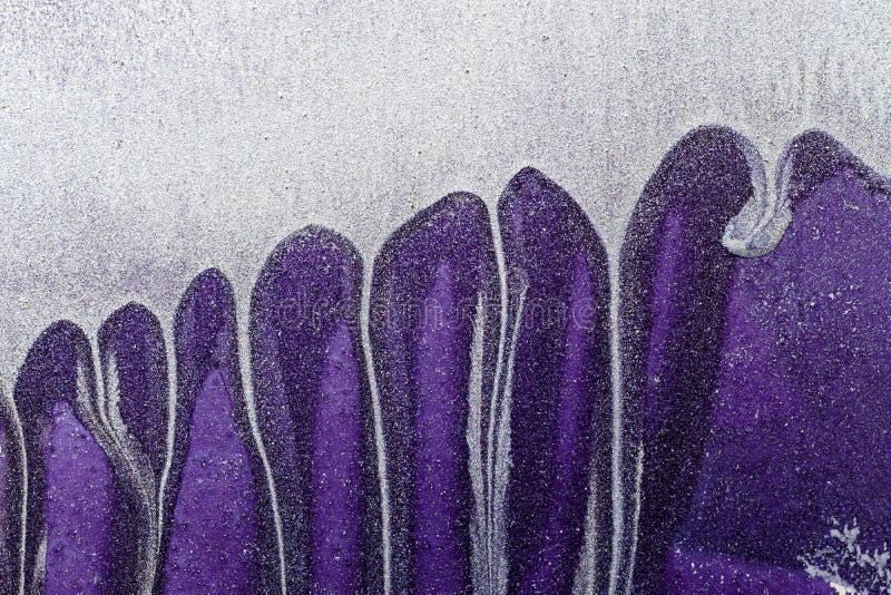 Abstrakcjonistyczny Ultrafioletowy tło Metal powierzchnia fotografia royalty free