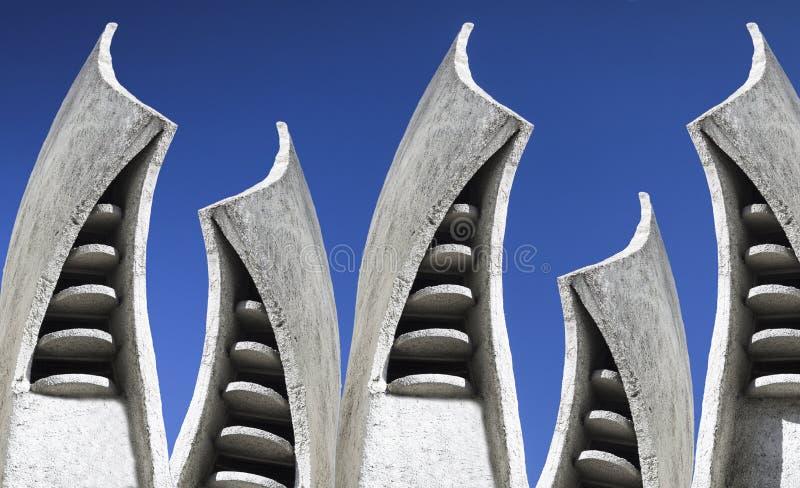 Abstrakcjonistyczny urbanistic tło Architektura, rzeźbi i kształtuje obraz royalty free
