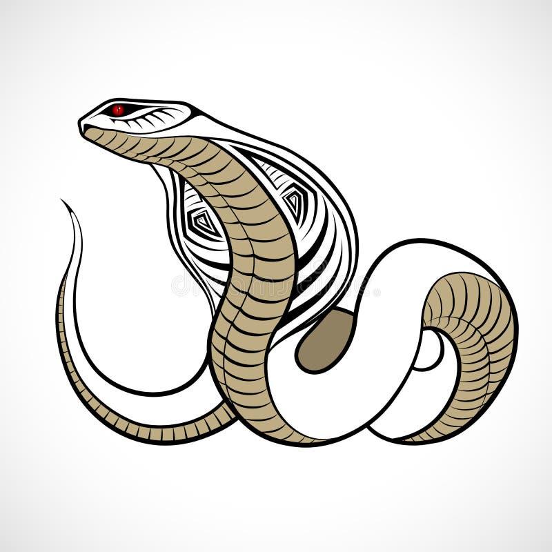Abstrakcjonistyczny wąż, tatuaż ilustracji