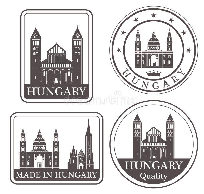 Abstrakcjonistyczny Węgry ilustracja wektor