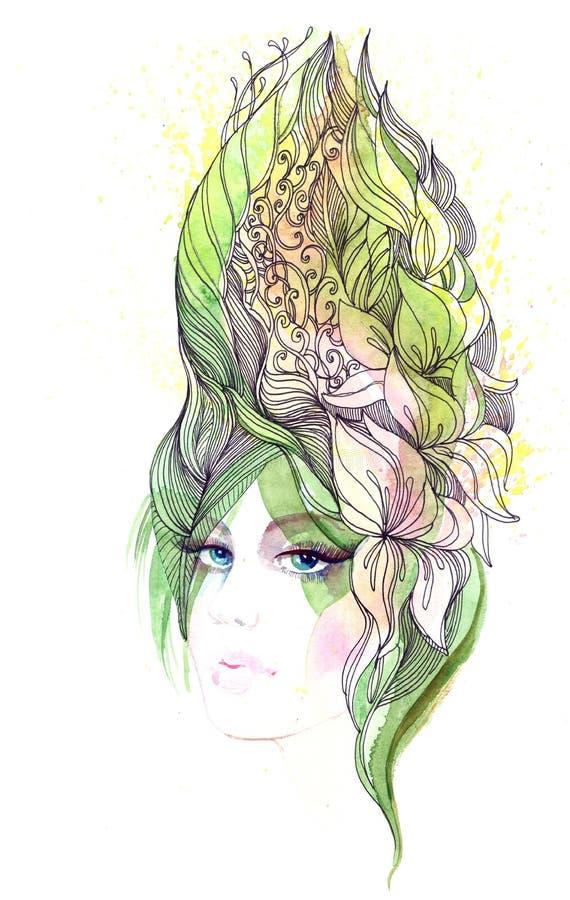 abstrakcjonistyczny włosy ilustracji