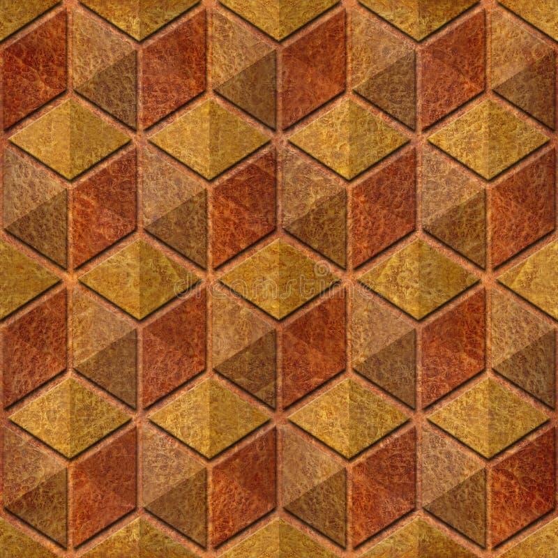Abstrakcjonistyczny w kratkę wzór - bezszwowy tło, Karpacki wiąz ilustracja wektor