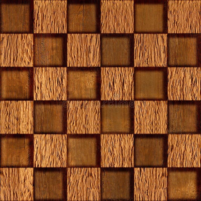 Abstrakcjonistyczny w kratkę wzór drewniana tekstura - bezszwowy tło - ilustracja wektor