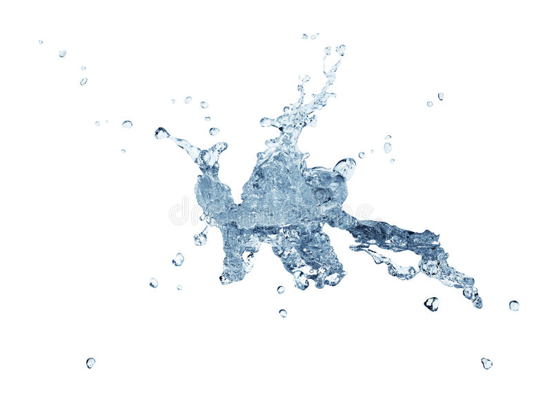 abstrakcjonistyczny watersplash obrazy stock