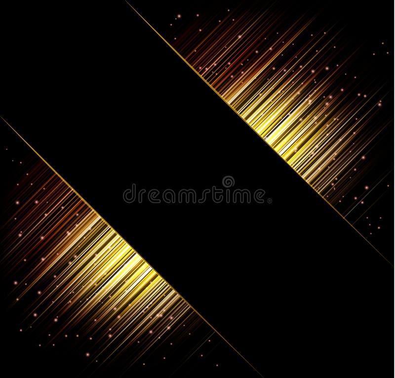 Abstrakcjonistyczny wektor ramy tło promienie światła royalty ilustracja