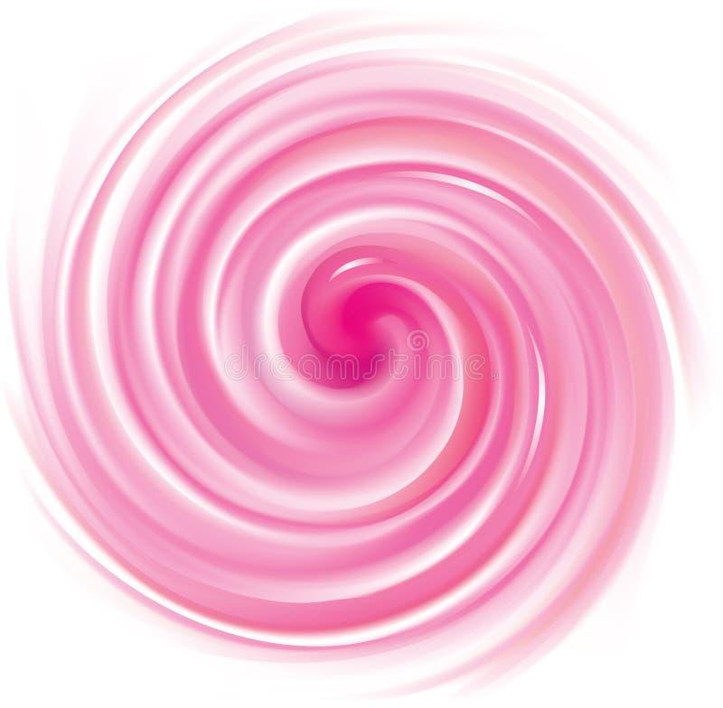 Abstrakcjonistyczny wektor spirali tła karmazynów colour ilustracji