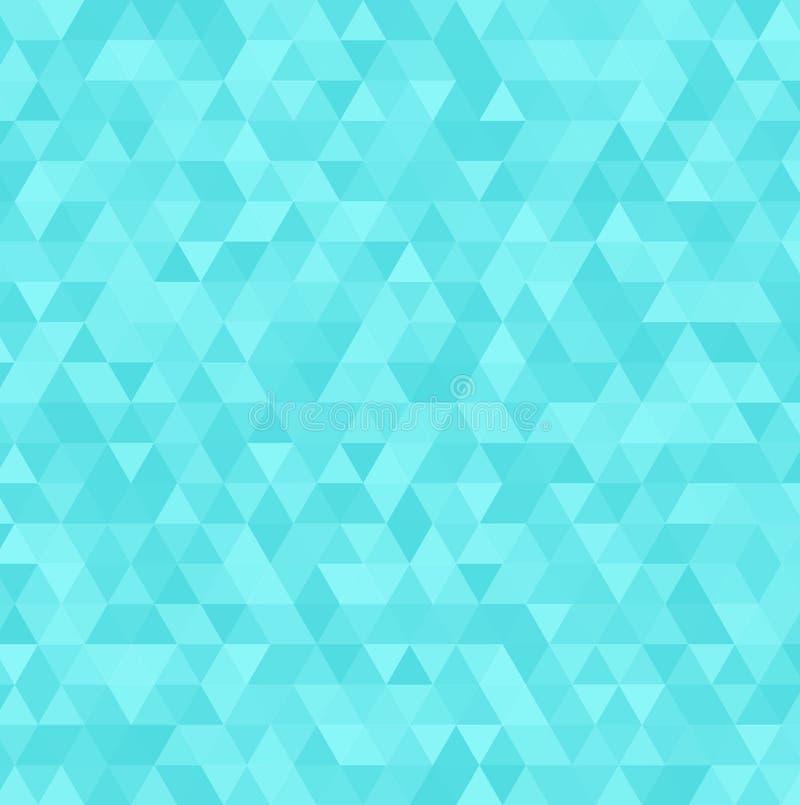 Abstrakcjonistyczny wektorowy błękitny trójboka tło Geometryczny biały tekstura wzór royalty ilustracja
