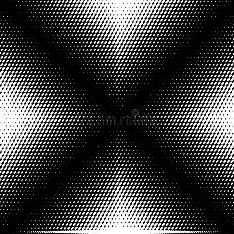 Abstrakcjonistyczny wektorowy bezszwowy op sztuki wzór Monochromatyczny graficzny czarny i biały ornament Pasiasta okulistycznego royalty ilustracja
