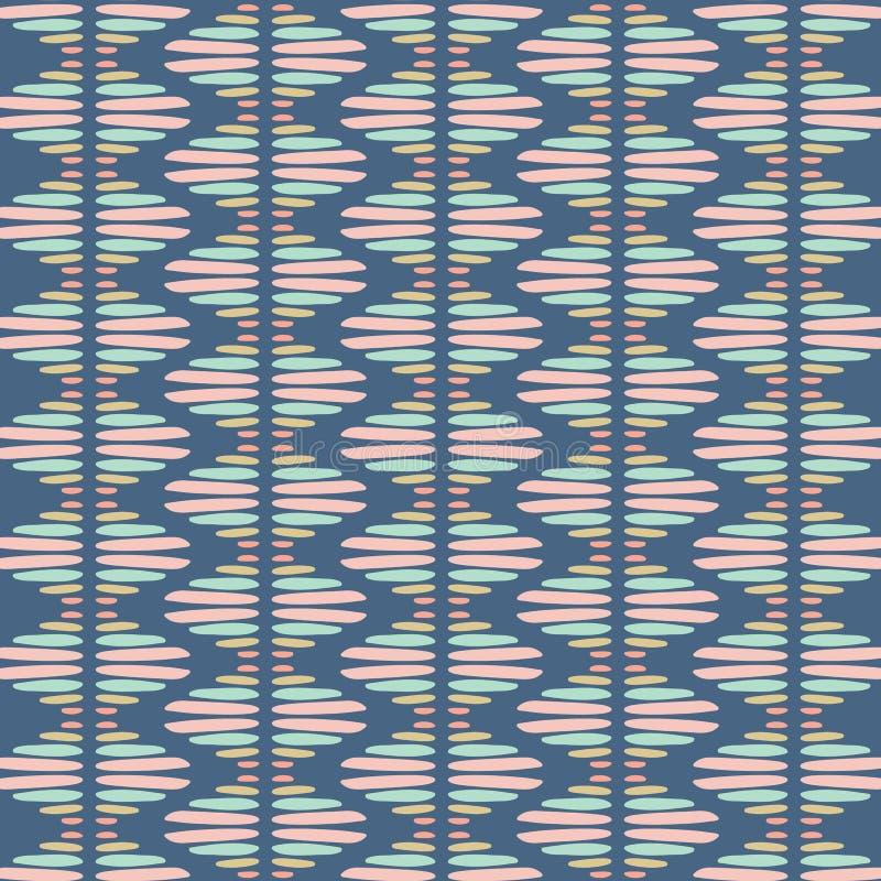 Abstrakcjonistyczny wektorowy bezszwowy powtórka wzór Nowożytna elegancka plemienna tekstura wielostrzałowe geometryczne pły ilustracja wektor