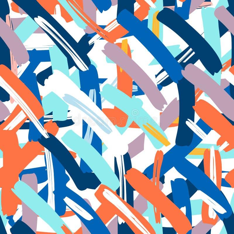 Abstrakcjonistyczny wektorowy bezszwowy wzór dla dziewczyn, chłopiec, odziewa Kreatywnie tło z kropkami, geometryczne postacie royalty ilustracja