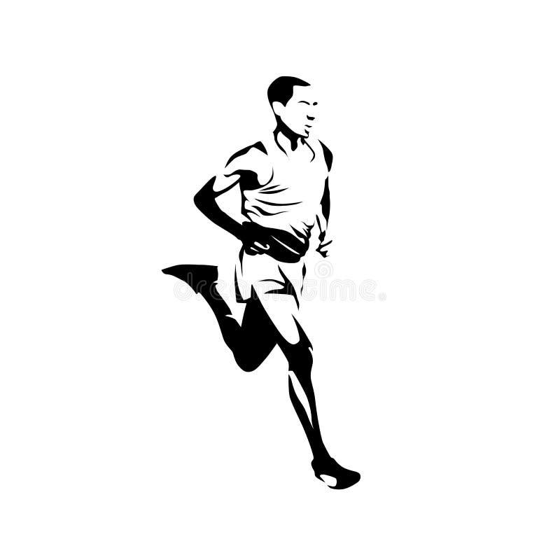 Abstrakcjonistyczny wektorowy biegacz, odosobniony szybkobiegacz ilustracji