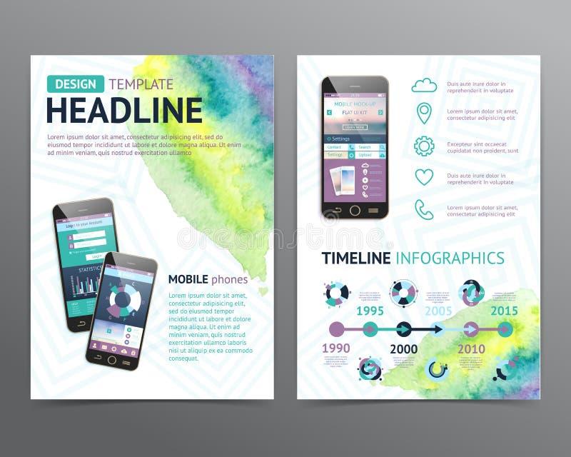 Abstrakcjonistyczny Wektorowy broszurka szablon Ulotka układ ilustracja wektor