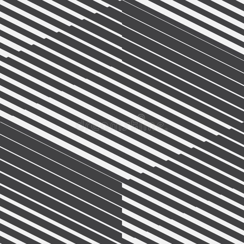 Abstrakcjonistyczny Wektorowy Geometryczny Retro Bezszwowy wzór royalty ilustracja