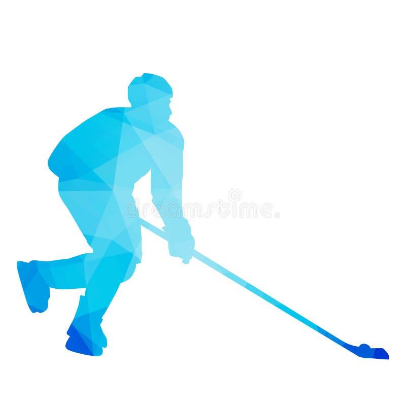 Abstrakcjonistyczny wektorowy gracz w hokeja ilustracji