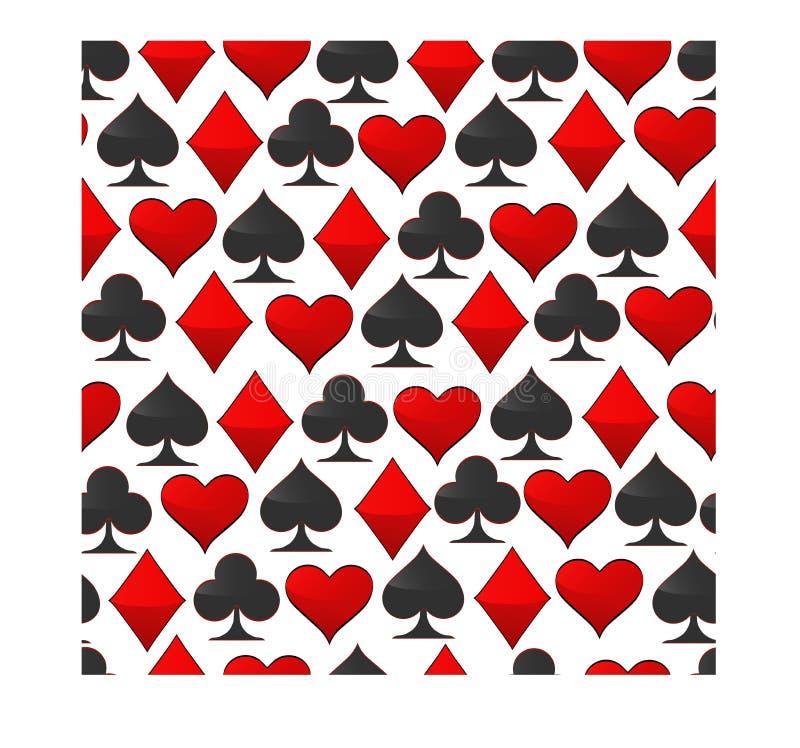 Abstrakcjonistyczny wektorowy ilustracyjny logo dla ustalonych karta do gry w hazardu grzebaku ilustracja wektor