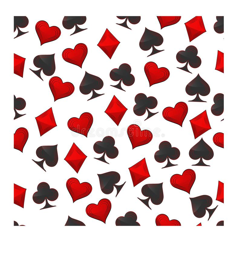 Abstrakcjonistyczny wektorowy ilustracyjny logo dla ustalonych karta do gry w hazardu grzebaku ilustracji