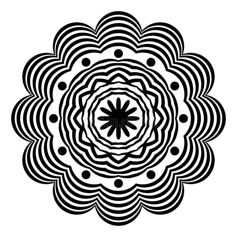 Abstrakcjonistyczny Wektorowy Indiański mandala Arab, element royalty ilustracja