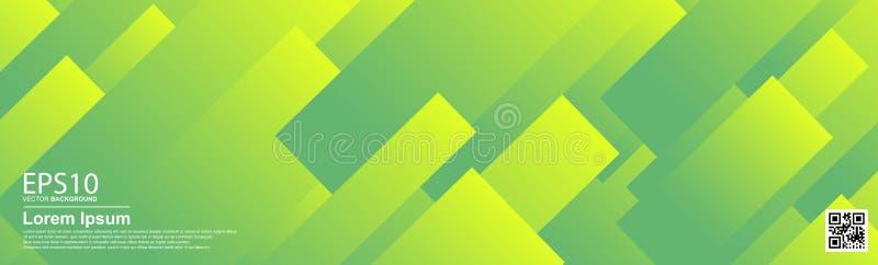 Abstrakcjonistyczny wektorowy kolorowy deseniowy tło UFO zieleń Plakat, sztandaru szablon ilustracji