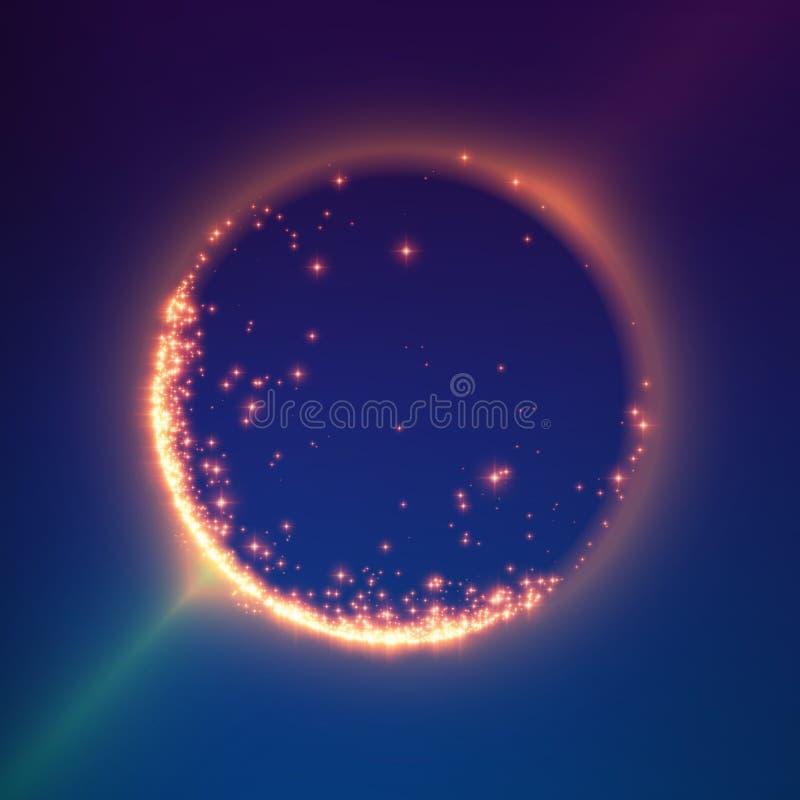 Abstrakcjonistyczny wektorowy kolorowy siatki tło Czarna dziura lub singularity Futurystyczny technologia styl ilustracja wektor